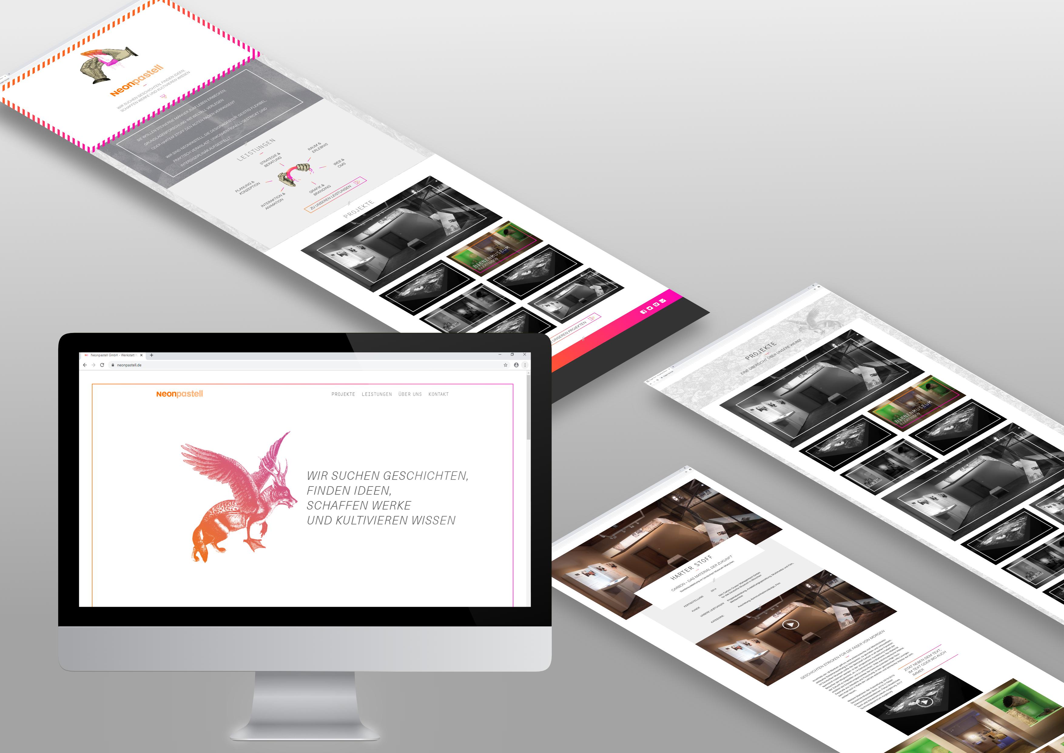 Webdesign Neonpastell